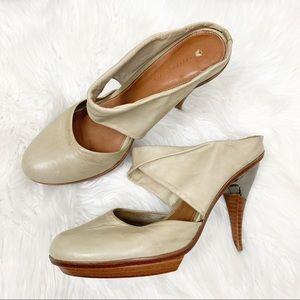 Anthropologie Liedsdottir leather heels